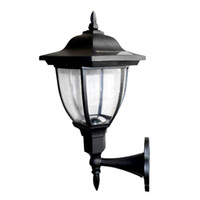 Vente en gros - ASLT Solar Powered Outdoor LED Lampes solaires Garden Pathway Wall Wall Landscape Applique murale pour la décoration intérieure de l'éclairage extérieur