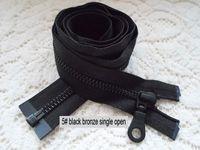Wholesale ykk zinc alloy single front zipper black bronze coat black zipper cm black plated copper single jacket zipper open