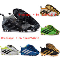Wholesale 2017 Black kids ace purecontrol soccer cleats Mens gold soccer shoes men football boots High top kid aces youth boys cleats original