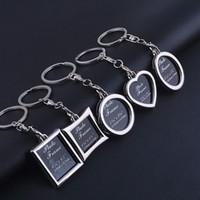 achat en gros de cadres photos clés-Mode Haute Qualité Mini Creative Metal Alloy Insertion Photo Cadre Porte-Clés Porte-clés Porte-clés Cadeau Livraison gratuite