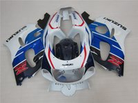 Wholesale 4 Free Gifts New ABS Fairing Kits Fit For Suzuki GSXR600 GSXR750 SRAD bodywork set cool red blue white