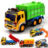 Vehículo de ingeniería inercial de los niños juguetes camión volquete excavadora simulación coche modelo mezclado explosión explosiva al por mayor