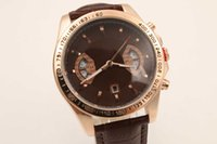 auto buy watch - Hot Buy Luxury Mens rose golden Watch Calibre RS RS2 Watches Men Brown leather Automatic Mechanical Stainless Sport Cheap watches