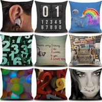 Wholesale 18x18 Inches Cotton D number Linen Square Pillowcase Cushion Cover Home Decor