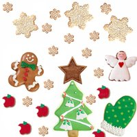 Metal apples cookies - Christams series aluminium alloy cookie mold Biscuit Pastry mold Cookies Christams tree snow angel apple Cutter