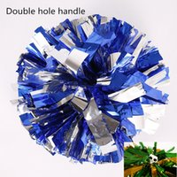baton handle pom poms - wholesale10pcs g metal color athletic outdoor accs big game pompoms cheering pompom with baton handle quality cheerleading supplies