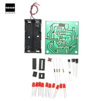 al por mayor tableros electrónicos de ruedas-Electrónica DIY 10 LED Flash Kit Rueda Más estable y fiable Con instrucciones Led DIY Integrated Circuits Módulos Junta