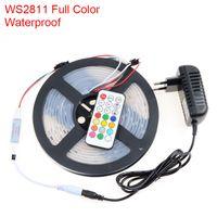 Wholesale SMD5050 WS2811 RGB LED flexible strip light dc12v led m ic addressable digital led strip set include controller and power