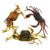 artificial crab - Soft Fishing Lures Crab artificial Bait with Sharp Hooks Fishing Tackle accessory tool