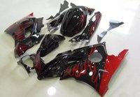 Tres libre regalo hermoso y nuevo ABS de alta calidad carenado conjunto para HONDA CBR600 91-94 CBR 600 F2 1991 1992 1993 1994 agradable llama roja negro