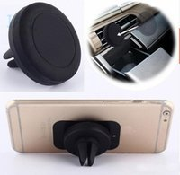 Wholesale Car Holder Air Vent Magnetic Holder Universal Phone Holder For IPhone s LG V10 K10 One Step Mounting Magnet Safer