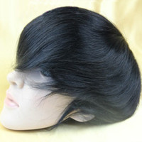 Wholesale New arrival x8 quot toupee mens wig base style top swiss lace with around pu lace toupee stock