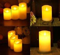Wholesale 4 Sizes Flameless Light Novely LED Lighting Real Flame effect LED Electronic Candle Simulation Candle Lamp b538