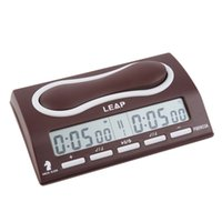 alarm colock - New COLOCK Leap Brand Digital Chess Clock Portable Chess Alarm Timer For Tournament Chess Game QZ001R hot sale