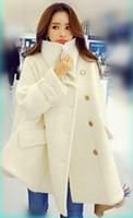 Wholesale 2016 autumn and winter new Korean ladies woolen coat long section of loose woolen coat thick cloak