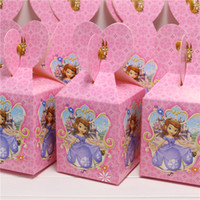 Wholesale candy box princess sofia decor party loading gift decoration happy birthday party supplies child favor baby shower