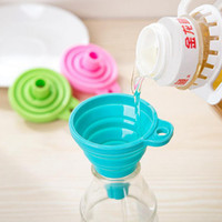 Wholesale High Quality pc New Mini Silicone Gel Foldable Collapsible Style Funnel Hopper Kitchen cooking tools