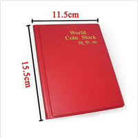 Wholesale Randomly color Coin Holders Collection Storage Money Penny Pockets Album Book Collecting
