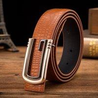 achat en gros de femmes boucles de ceinture gros-Accessoires de luxe Party Business ceinture de boucle lisse pour hommes et femmes étudiant G ceinture bonne qualité de gros Livraison gratuite Nouvelle arrivée