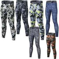 Wholesale Mens Gym Clothing Sports Tights PRO Elastic Basketball Long Leggings Pants Men Compression Camouflage trousers For Men Size S XL