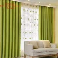 Wholesale The simple modern and pure cotton curtain are made up of cotton and linen to full light shading in bedroom or living room