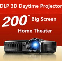 ansi brightness - DLP projector proyector beamer with ansi lumens high brightness for Daytime classroom business presentation home theater