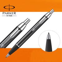 Notes art business school - U Pick Parker IM Ballpoint Pen Silver Golden Clip Business Parker Ball point Pen Writing Office School
