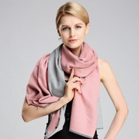 Wholesale Qiu dong female scarves shawls Pure color double sided cotton flannelette shawls tassel contracted tippet
