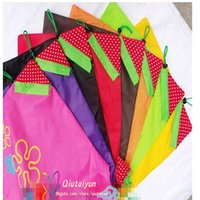 Wholesale Nylon Foldable Shopping Bags colors Reusable shopping bag Eco Friendly Storage Bags Tote Bags Fold the strawberry bag H396