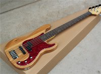 ash shell - Ash Body String Electric Bass Guitar with Red Tortoise Shell Pickguard Black Hardwares Offer Customized