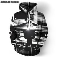 band jumpers - ALMOSUN Drums Musical Instruments D All Over Print Pullover Hoodies Hip Hop Hipster Jumper Band Sportwear Men Women