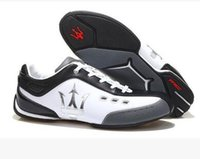 Wholesale Italy New MASERATI fashion Sneakers sneaker men Genuine Leather shoes sports shoes comfortable Racing shoes big size