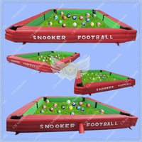 Wholesale 26ft Giant Pool Table m Long Snooker Pool Table High Quality Inflatable Snookball Table Tennis Play Snooker Soccer Game