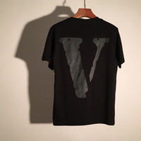 Wholesale T shirt friends VLONE Man V as soon as TEE hip hop summer Virgil pop Abloh LA Kanye West s top cotton high quality women s T shirt