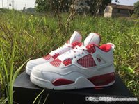 Air AA Jordan 4 Retro IV Alternativo 89 Blanco Negro Gym Red Jordans Retros 4s Alternativo 308497 106 Blanco Rojo Con Caja Original
