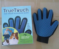 Wholesale New Arrival Deshedding Pet Glove True Touch For Gentle And Efficient Grooming Removal Glove Bath Dog Cat Brush Comb DHL free