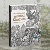 animal coloring sheet - English Edition Animal Kingdom Secret Garden style Sheets Coloring Card Tintage Postcards DIY Painting Colouring Books