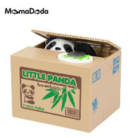 automatic cat toy - Mischief Piggy Bank Automatic Electric Stole Coin Box Little Panda Dog Cat Money Box Funny Toy Piggy Bank Children Birthday Gift for Christm