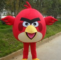 Wholesale 2017 HOT high quality Angry red bird mascot costume for adults Angry red bird mascot costume material