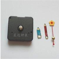 Wholesale set Cutest Quartz Silent Clock Movement Mechanism Flower pen pencil Hand DIY Repair Parts Kit