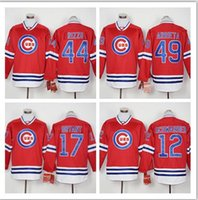 Wholesale Stitched Full Chicago Cubs Schwarber Kris Bryant Rizzo Arrieta Cheap Baseball Red MLB Jersey