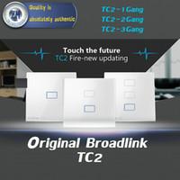 Wholesale Original Broadlink TC2 Gang Gang Gang Touch Switch EU Standard Smart Home Automation Wireless Wifi Control Light Wall Switch
