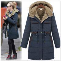 Wholesale 2016 New Winter Coat and Slim Female Fat Thickened Long Mianfu Large Size Women Cotton Padded Jacket