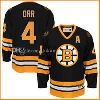 Ice Hockey Men Full 4  Bobby Orr Boston Bruins Hockey Jersey CCM Men s  Embroidery And  Wholesale ... a287f6e39