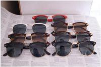 Wholesale 20pcs New Fshion Men s Women s Metal hinge Sunglasses Unisex Plank black Sun glasses Retro Inspired Elegant Adult Sunglasses