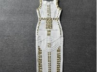 beaded pencil skirt - Europe and the United States Star paragraph beaded sexy dress dress skirt Christmas party dress