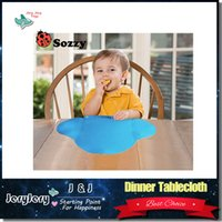Wholesale Silicone Waterproof Baby Bib Infant Silicone Dinner Portable Tablecloth For Children Baby Feeding Mat Home Travel Place Mat