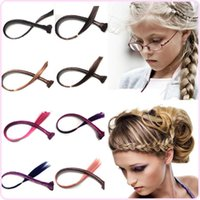 Wholesale Sara Charms Twist Braids Headbands Hair Band Front Braided Hair Extension Clip in Braids Heat Resistant Hair Accessories