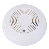 Wholesale White Alert Smoke With Carbon Monoxide CO Detector Alarm V Battery Gas Analyzers Measurement Instruments