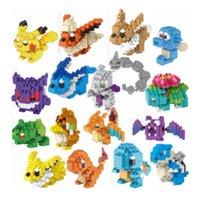 Wholesale DHL Building Blocks DIY Toy Pokémon Go Poke D Puzzle Model Granule Educational Toys Creative Kids Intelligence Birthday Gifts